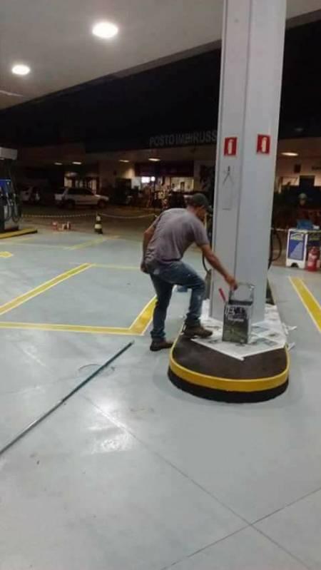 Demarcação de Vagas de Garagem em Condomínio Caierias - Demarcação Entrada de Garagem