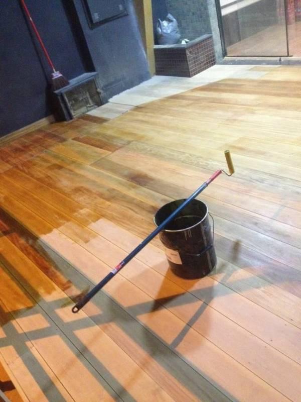 Pintar Deck de Madeira Ribeirão Pires - Pintar Deck da Piscina